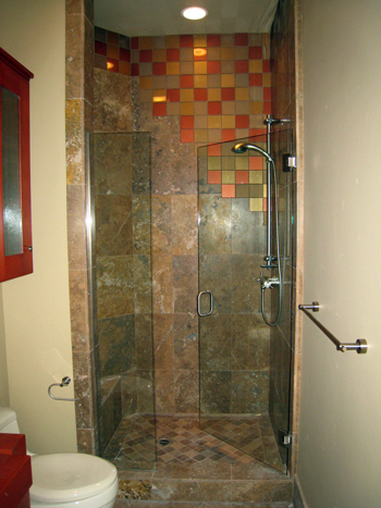 residential glass shower door