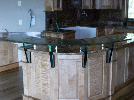 residential glass counter top