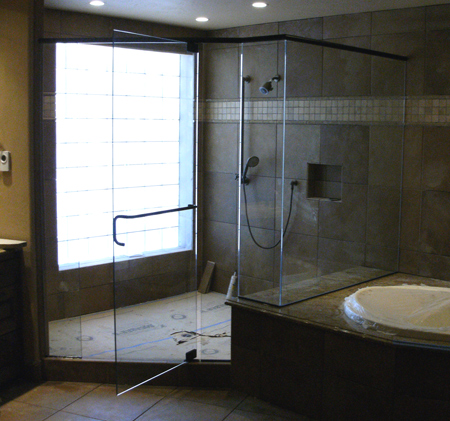 bend shower doors installation