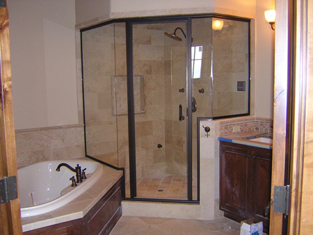 bend oregon glass shower