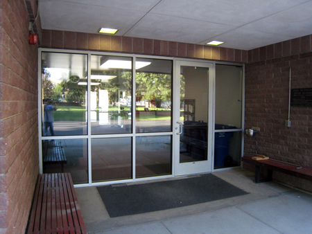commercial glass door installation