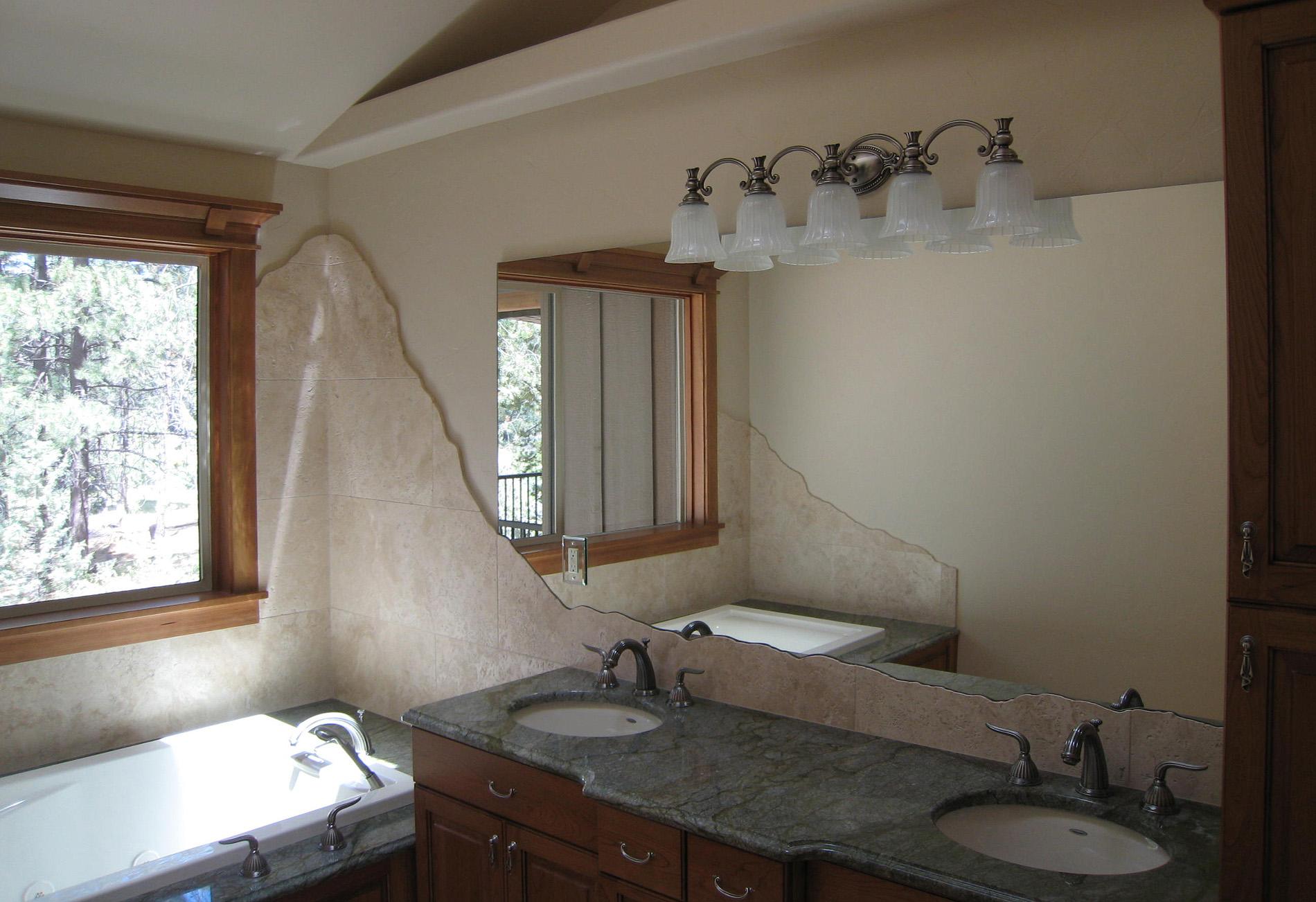 bend vanity bathroom mirror